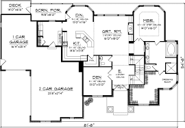 house plans with garage on side traditional house plan 4 bedrooms 3 bath 3003 sq ft plan 7 1059