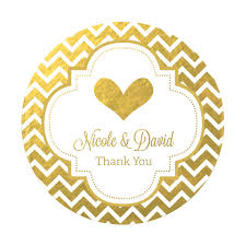 party favor labels personalized metallic foil wedding favor labels