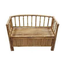 Storage Bench Shop Bamboo 54 Coastal Bamboo Storage Bench At Lowes Com