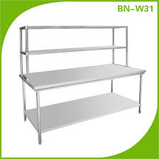 Stainless Steel Kitchen Table Top Stainless Steel Kitchen Work Table With Top Shelf Work Bench With