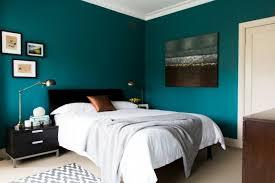 peinture bleu chambre peinture murale modele chambre a coucher peinture bleu petrole