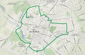map of st albans st albans city district council green ring