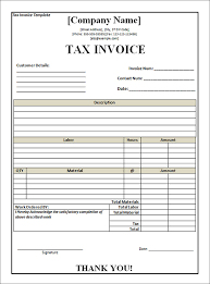 tax invoice template word 8 pinterest