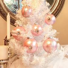 powder pink balls studded with stones for whites tree