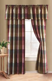 Country Plaid Curtains Sturbridge Plaid Curtain Collection Lifestyle Curtains Country