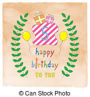 drawings of happy 5th birthday csp16274635 search clipart