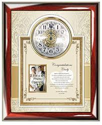 personalized wedding clocks personalized wedding gift for or