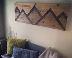 believe letters wooden wall decor wood wall art mountain range by mountaindwelling on etsy https