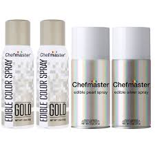chefmaster by us cake supply edible spray food coloring 3 color