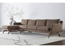 Modern Sectional Sofa With Chaise American Leather Nash Contemporary Sectional With Right Arm Chaise