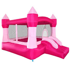 Princess Dog Bed With Canopy by Amazon Com Cloud 9 Princess Inflatable Bounce House Pink Castle
