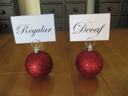 christmas ornament place card holder christmas lights decoration