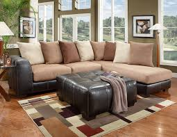Suede Sectional Sofas Amazon Com Roundhill Furniture Laredo Mocha Brown 2 Toned