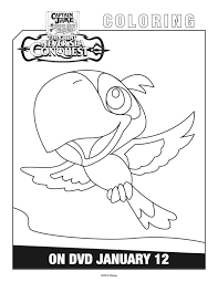 jake neverland pirates skully coloring pages