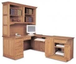 Oak Desk With Hutch Oak L Shaped Desk Foter
