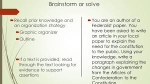 writing a strategy paper 8 step writing process 8 steps at a glance 1 read the question 2 brainstorm or solve recall prior knowledge and an organization strategy graphic organizer outline
