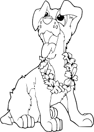 clipart coloring book dog ilio