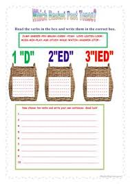 write the pattern of past tense and give exle 8 free esl past tense worksheets