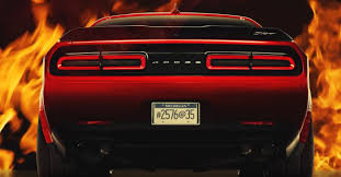Dodge Challenger Tail Lights - dodge challenger srt demon teased in tire spinning video
