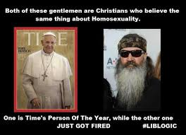 Phil Robertson Memes - the patriarch and the pope the real difference between phil