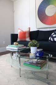 home loft concepts glass oval coffee table walmart com