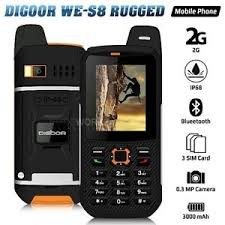 Rugged Cell Phones Digoor We S8 Orange Ip68 2 4