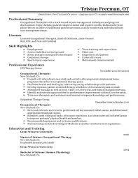 best occupational therapist resume exle livecareer