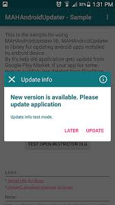 check android version github hummatli androidappupdater android library for checking