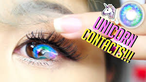 halloween contacts cheap world u0027s most beautiful unicorn contact lenses ever youtube