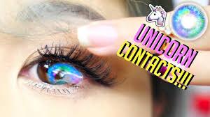 u0027s beautiful unicorn contact lenses