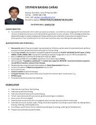 Pipefitter Resume Stephen Canas Cv Pipefitter