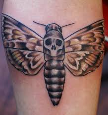 death moth skull tattoo on leg bees pinterest moth moth