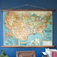 Alaska Map In Usa by Usa Vintage Classroom Pulldown Map Mysignalflags Neheet And
