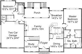 colonial floor plan fantastic house blueprints colonial 5 designs and floor plans on