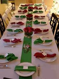 setting dinner table decorations perfect for a family reunion church or any social group in large