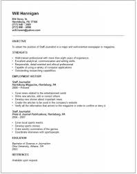 Journalism Resume Cover Letter Journalist Resume Sample Sample Resume For Journalism