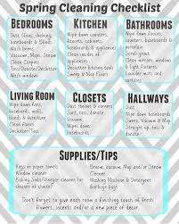 ultimate guide to spring cleaning printable checklist living
