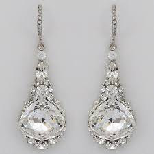 bridal drop earrings haute earrings ec701 rhinestone drop wedding earrings