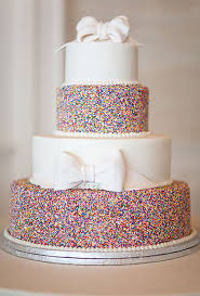cake wedding wedding cake with sprinkles and bows a wedding cake