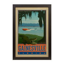 vintage gainesville framed poster print vintage wall decor and