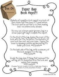 paper bag book report template paper bag book report paper bag books and students
