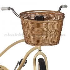 wicker basket with leather handles xlc wicker basket chubbys bikes easy rider pinterest easy