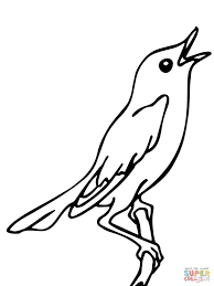 singing nightingale coloring page free printable coloring pages