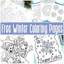 free printable winter coloring pages itsy bitsy fun