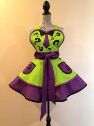 Custom Aprons For Women Riddler Riddler Apron Riddler Costume Retro Apron