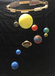 One More Way To Make A Model Of The Solar System Always Good To - Hanging solar system for kids room
