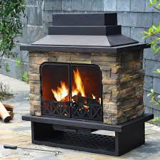 outdoor metal fireplace home design very nice modern on outdoor