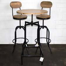 industrial bar table and stools bar table set ebay