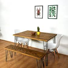 Pallet Table For Sale Reclaimed Pallet Dining Table And Bench Hairpin Legs Furniture