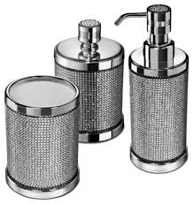 starlight bathroom accessories set with swarovski 3